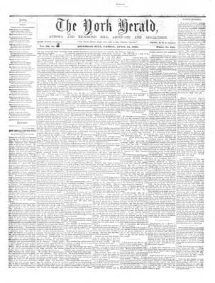 York Herald, 12 Apr 1861