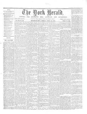 York Herald, 19 Apr 1861