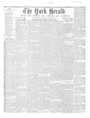 York Herald, 26 Apr 1861