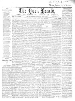 York Herald, 14 Jun 1861