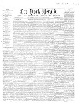 York Herald, 2 Aug 1861