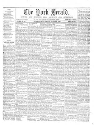 York Herald, 9 Aug 1861