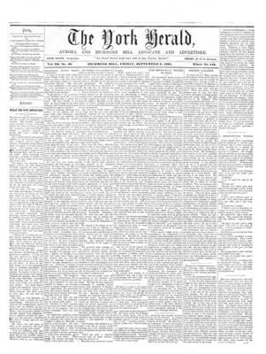 York Herald, 6 Sep 1861