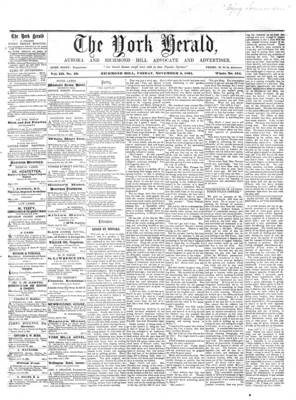 York Herald, 8 Nov 1861