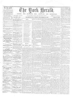 York Herald, 15 Nov 1861