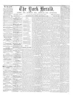 York Herald, 6 Dec 1861