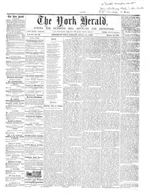 York Herald, 11 Apr 1862