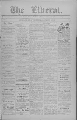 The Liberal, 5 Nov 1903