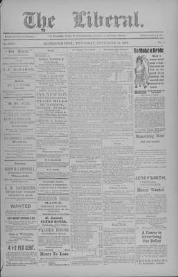 The Liberal, 19 Nov 1903