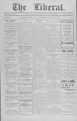 The Liberal, 13 Aug 1914