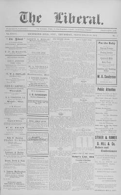 The Liberal, 10 Sep 1914