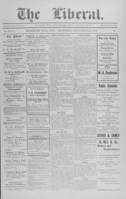 The Liberal, 17 Sep 1914