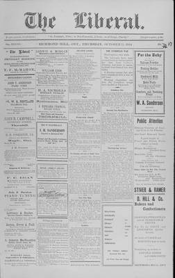 The Liberal, 15 Oct 1914