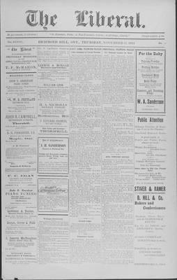 The Liberal, 12 Nov 1914