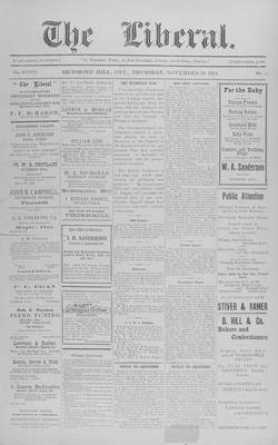 The Liberal, 19 Nov 1914