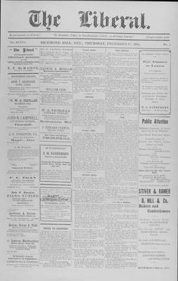The Liberal, 10 Dec 1914
