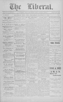 The Liberal, 17 Dec 1914