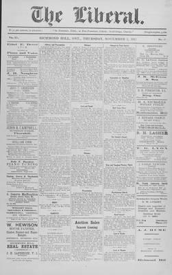 The Liberal, 1 Nov 1917
