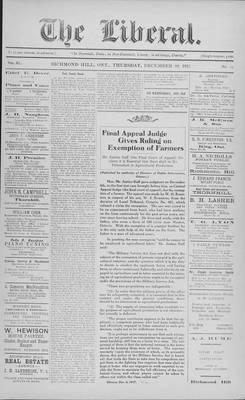 The Liberal, 20 Dec 1917