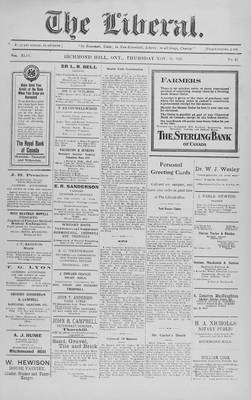 The Liberal, 24 Nov 1921