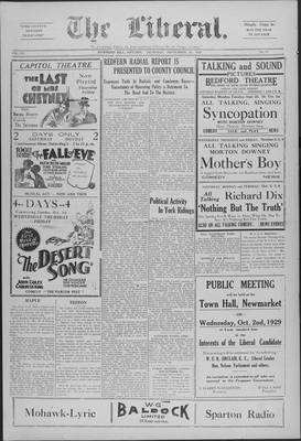 The Liberal, 26 Sep 1929