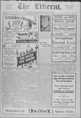 The Liberal, 17 Oct 1929