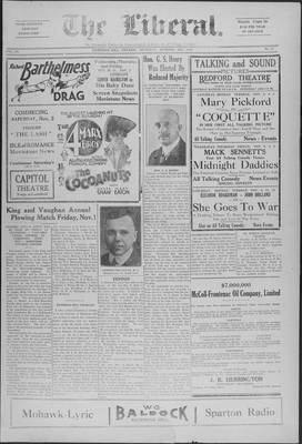 The Liberal, 31 Oct 1929