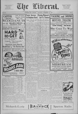 The Liberal, 7 Nov 1929