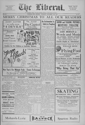 The Liberal, 19 Dec 1929
