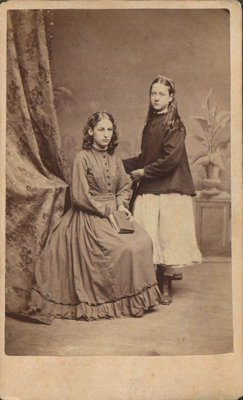 Cabinet photograph of two young girls