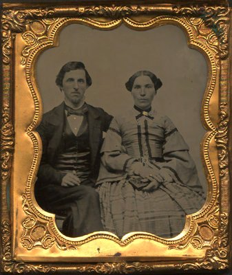 Photograph of a couple related to the Wright family