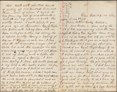 Letter of S. Wright addressed to Amos Wright