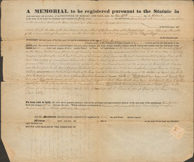 Indenture of Agreement for Sale of Land