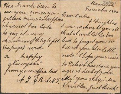Short letter to little Bertha