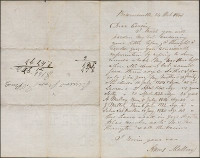 Letter of Amos Mallory