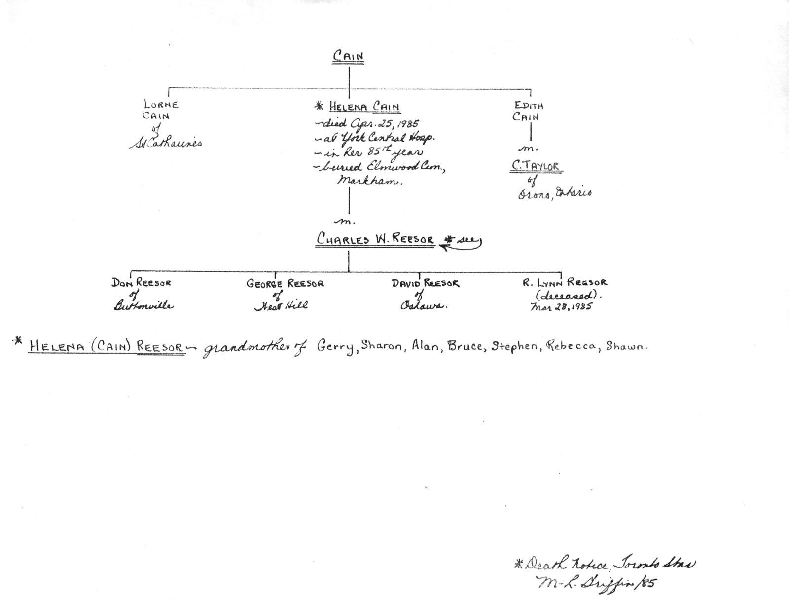 "Genealogy book: volume ""Cain-Dixon"""