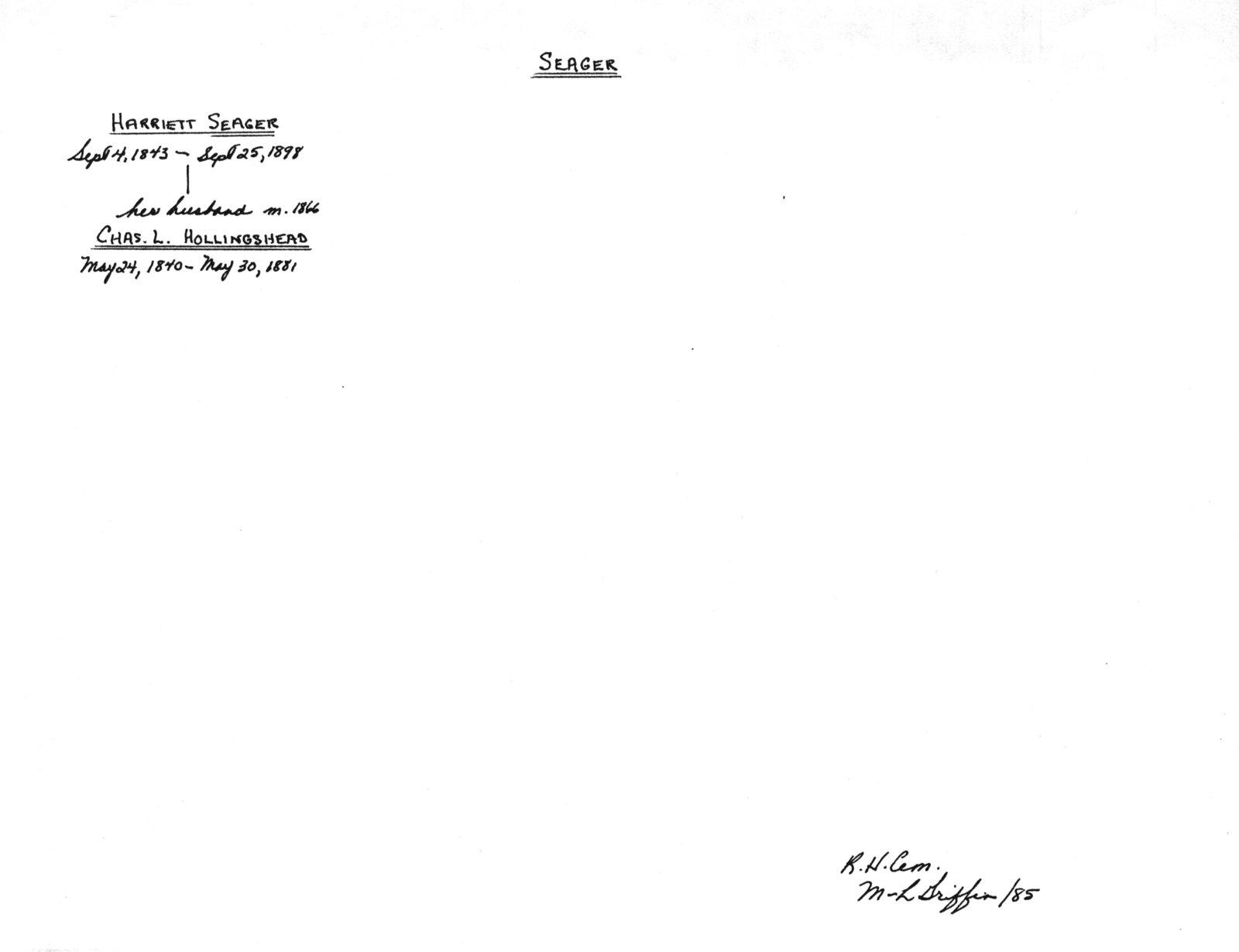 "Genealogy book: volume ""Seager-Spragge"""