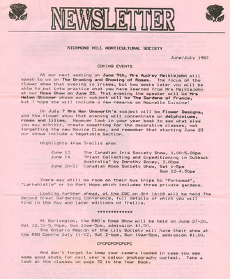 1987 June/July newsletter