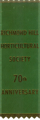 Richmond Hill Horticultural Society 70th anniversary