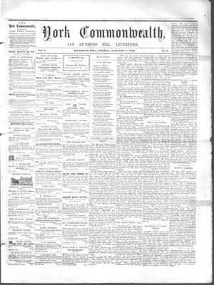 York Commonwealth, 7 Jan 1859