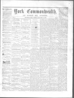 York Commonwealth, 21 Jan 1859