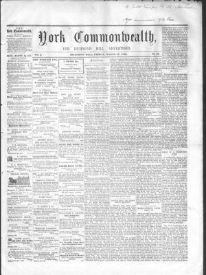 York Commonwealth, 18 Mar 1859