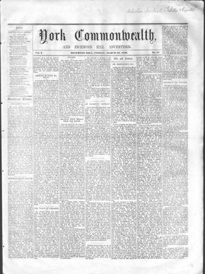 York Commonwealth, 25 Mar 1859