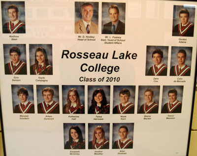 Rosseau Lake College Class of 2010