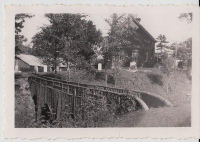 Rustic bridge - St. Paul's cemetery.