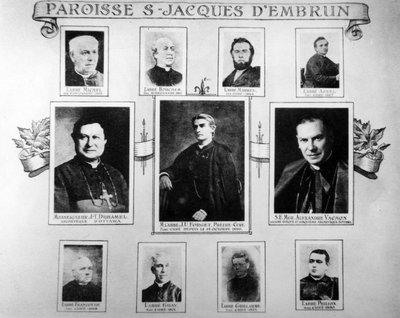 Les missionnaires et les curés d'Embrun de 1855 à 1896.