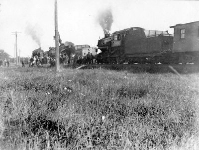 Le déraillement d'un train du New York Central près d'Embrun en 1927.
