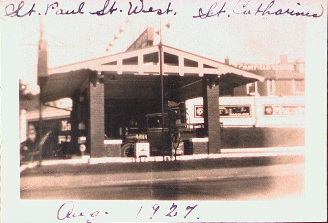 Gas station at the corner of St. Paul Street and St. Paul Street West.