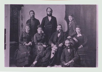 Grantham Methodist Sunday School Staff, c1880