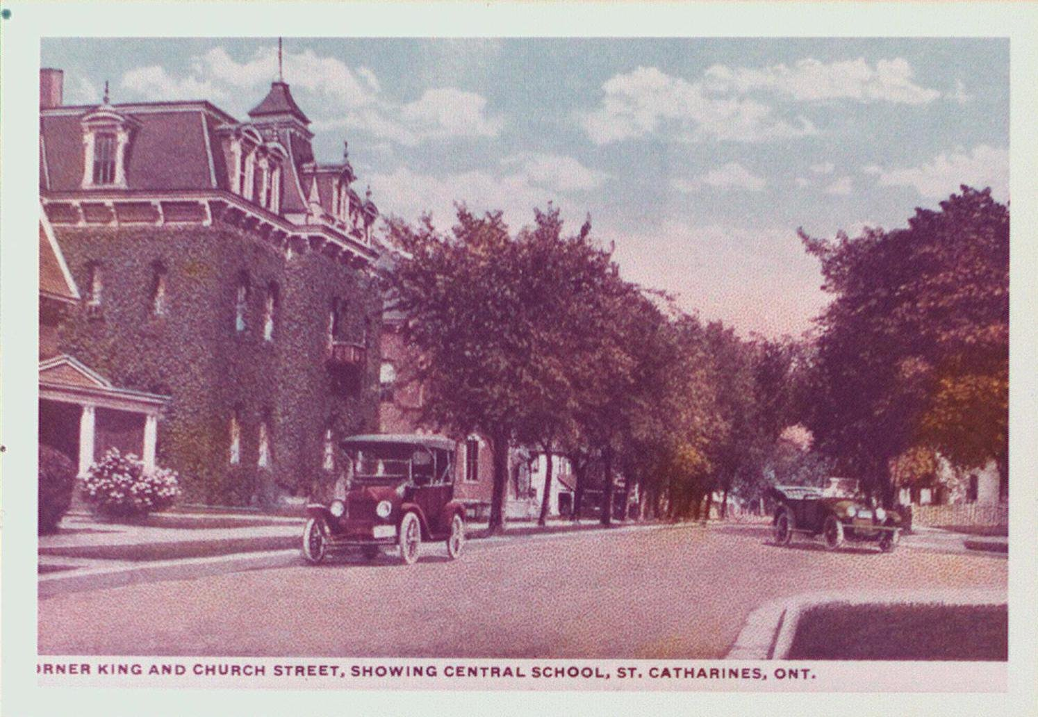 King Street and Church Street, showing Central School.